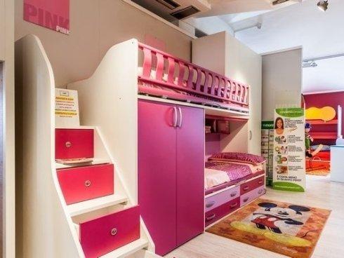 camerette con letti a castello, prodotti senza spigoli, mobili senza spigoli per bambini