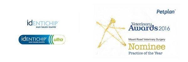 identichip, Petplan, Veterinary awards logos