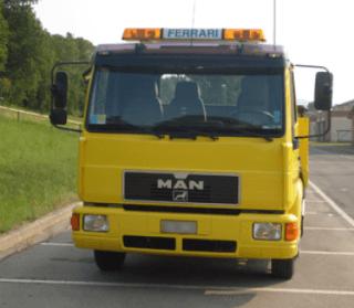 Il nostro mezzo, camion, giallo, qualità, servizio, recupero auto incidentate