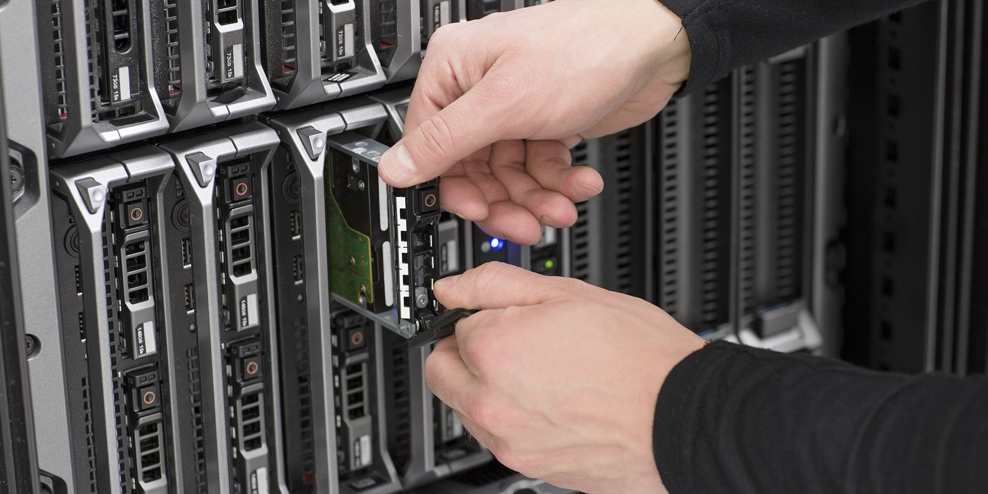 View of the server being repaired by a Killa-Byte technician