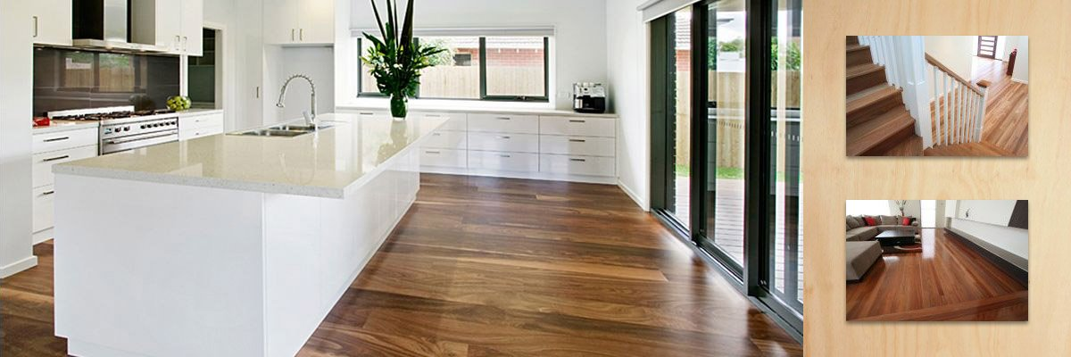 wollongong floorsanding and polishing wooden flooring in kitchen