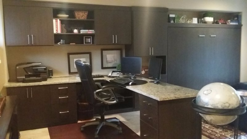 Modern Home Office With Wrap Around Desk