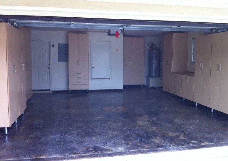 maple garage storage cabintes