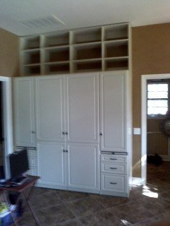 built in cabinets with shelving