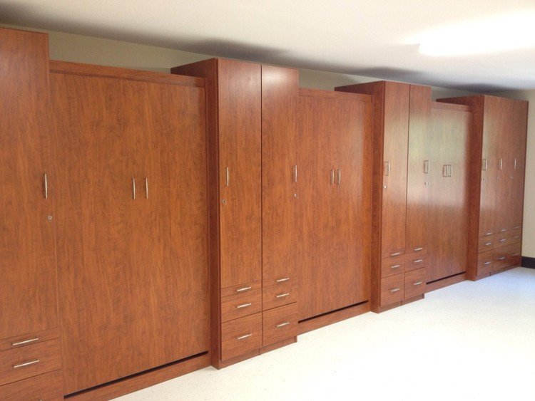 multiple murphy beds closed