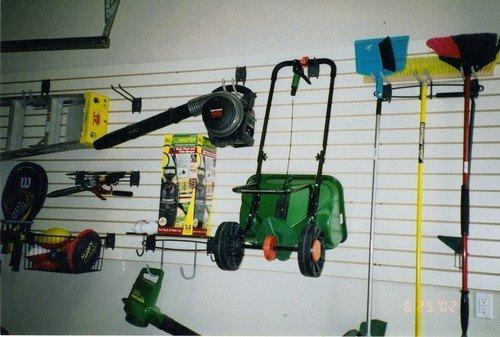slot wall to hang garage items