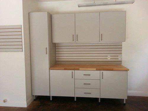 built-in garage workbench
