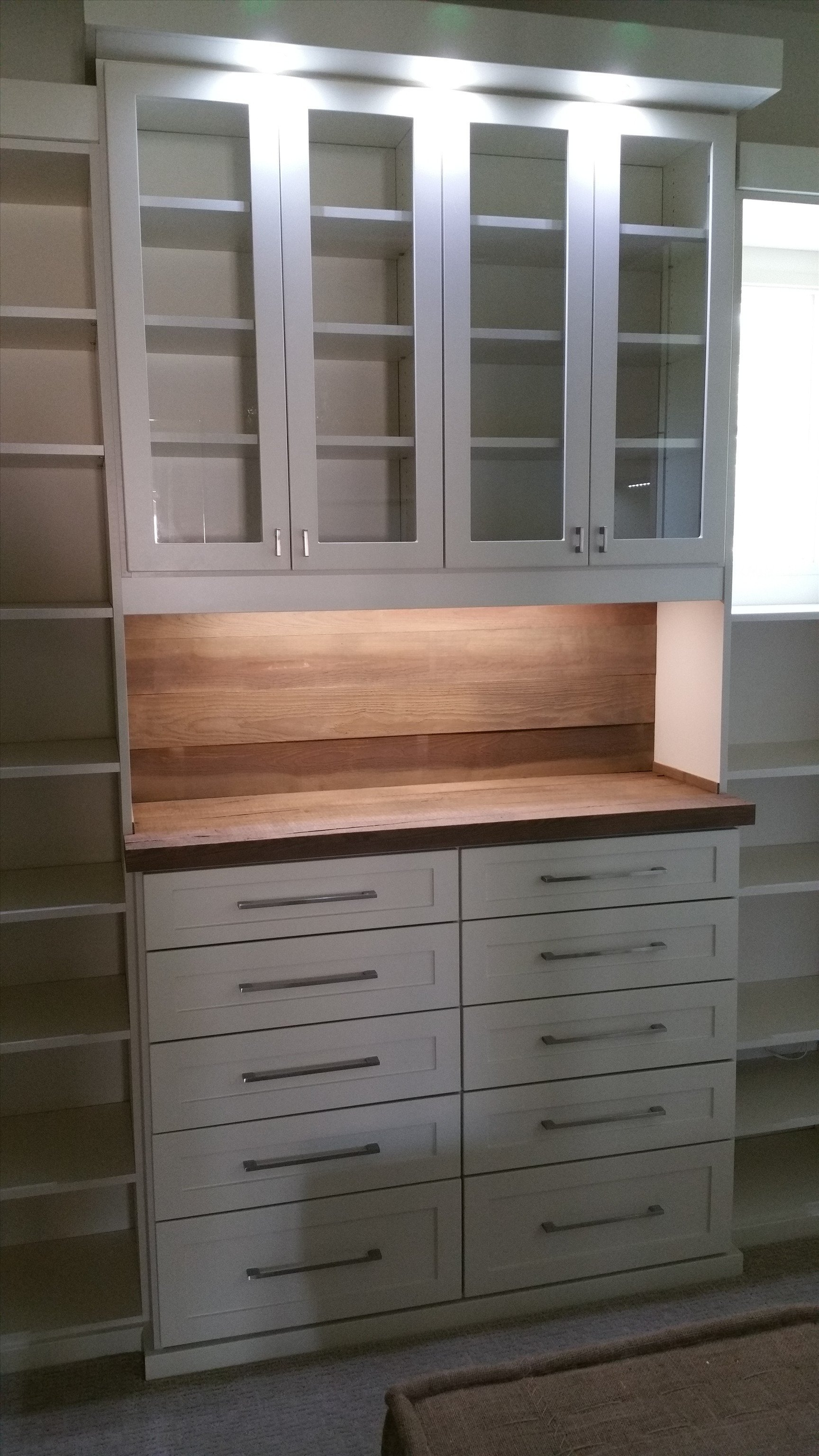 shaker dresser with rustic wood top