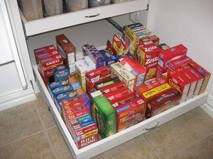 deep pantry slide out shelves with full extension rails
