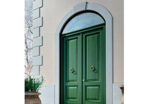porta in legno verde