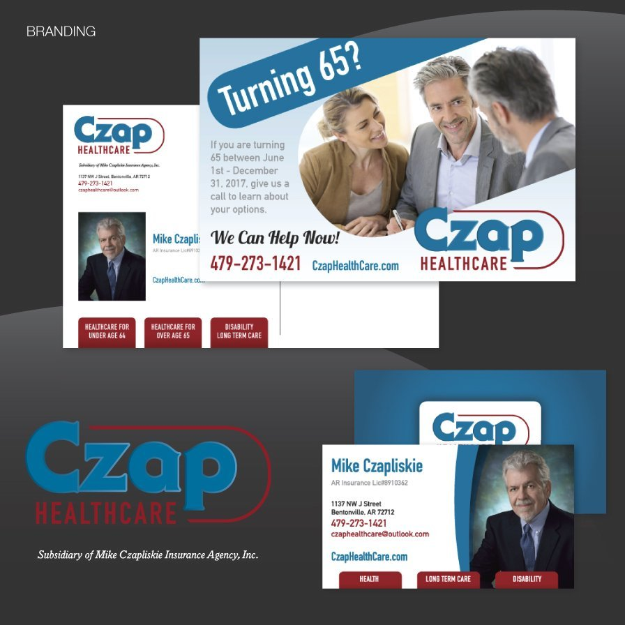 postcard design, print, mail, czap healthcare