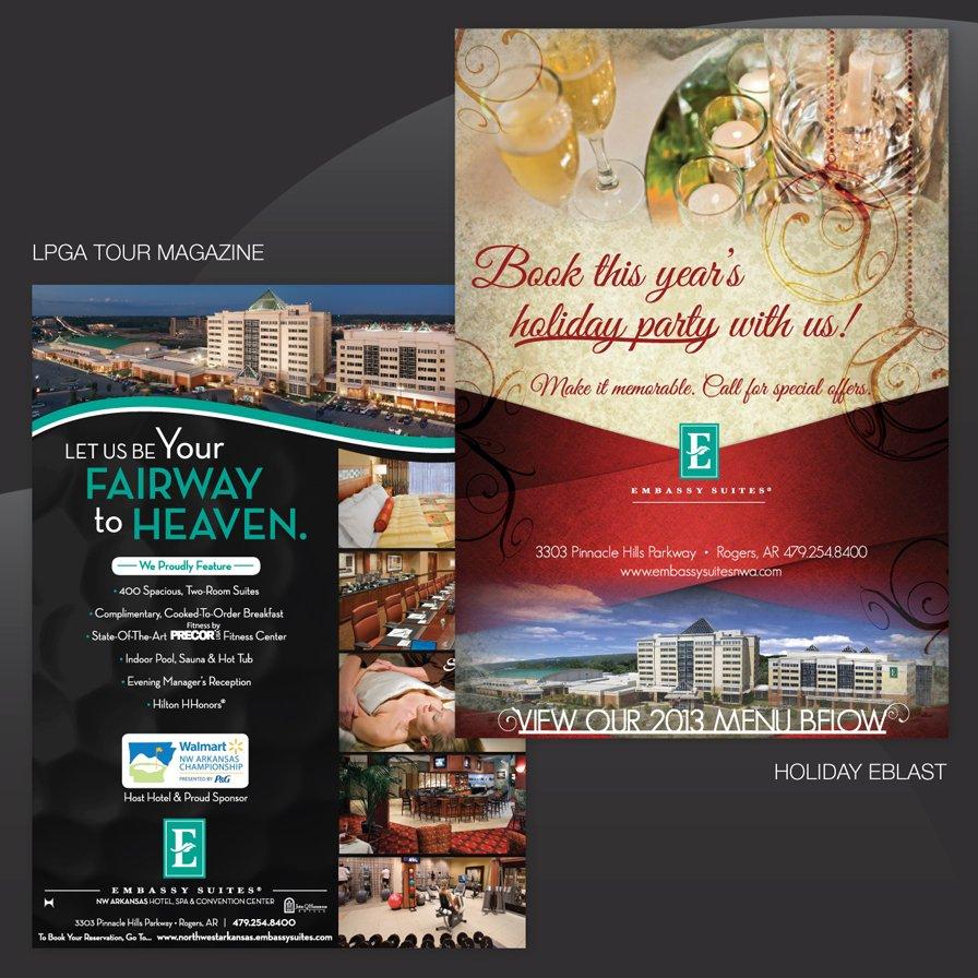 embassy suites, eblast ad agency, flyer