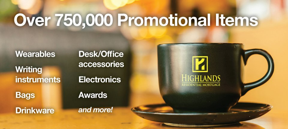 Over 750,000 promotional items