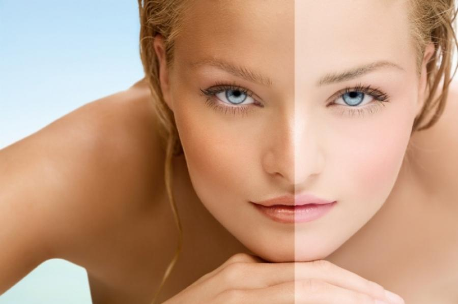 spray tan before and after