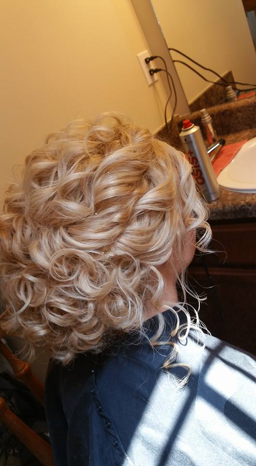 Naturally Curly Hair Wedding Updo Spartanburg, SC