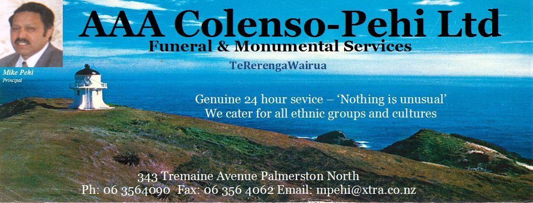 Funeral service in Palmerston North