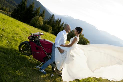 sposi, moto ducati