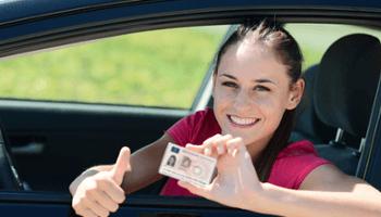scuoal guida, ragazza, patente, auto