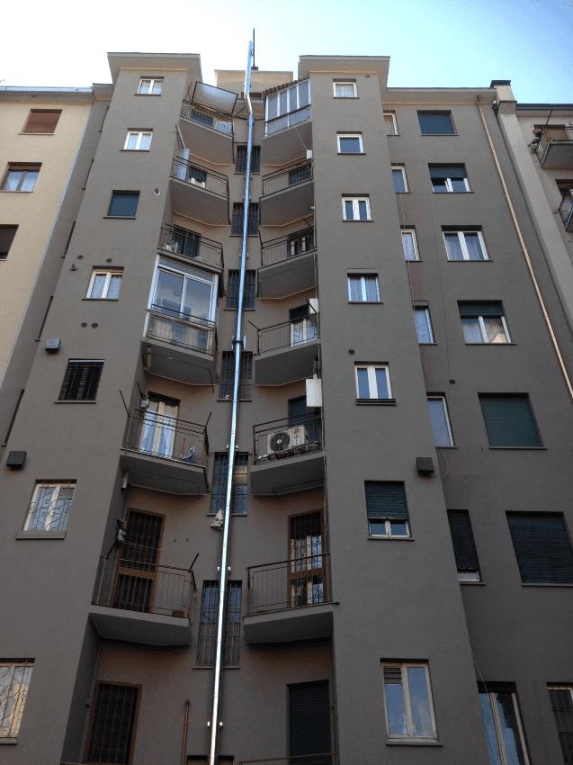 Rifacimento facciate edificio in Via Tito Livio - Milano