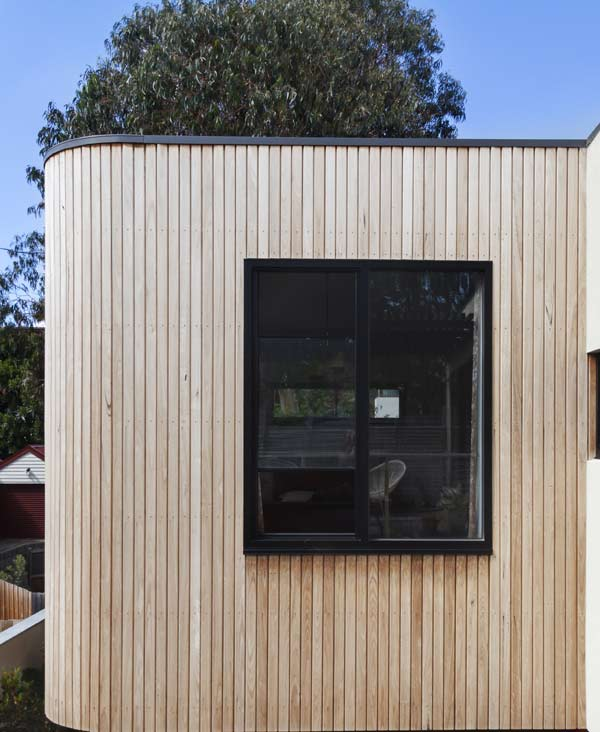 Cladding done on exterior wall