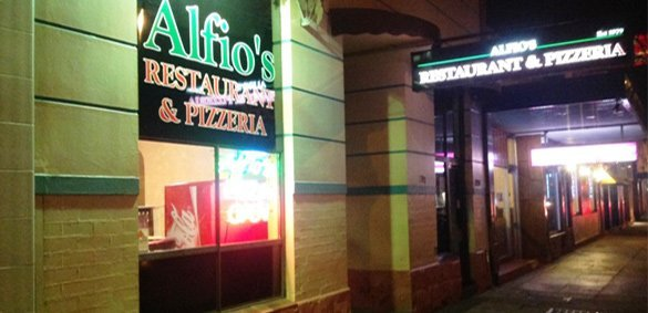 Alfios pizzeria shop front