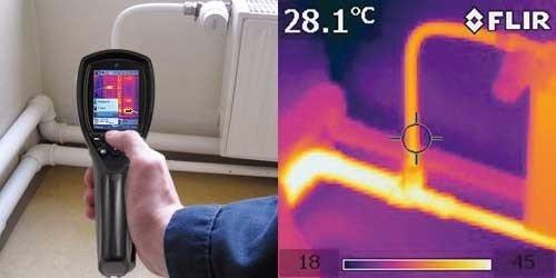 Immagine termografica di un tubo