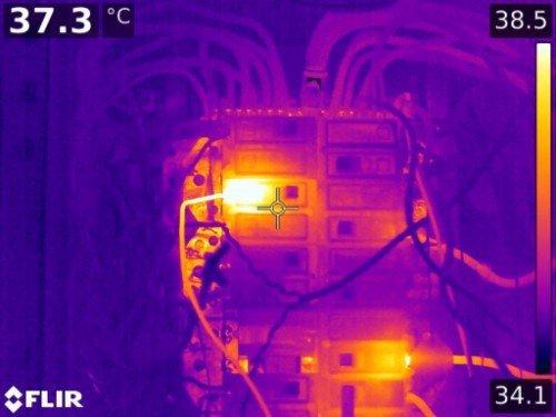 Immagine termografica di un impianto