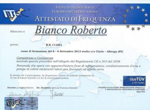 Certificazioni RB Clima