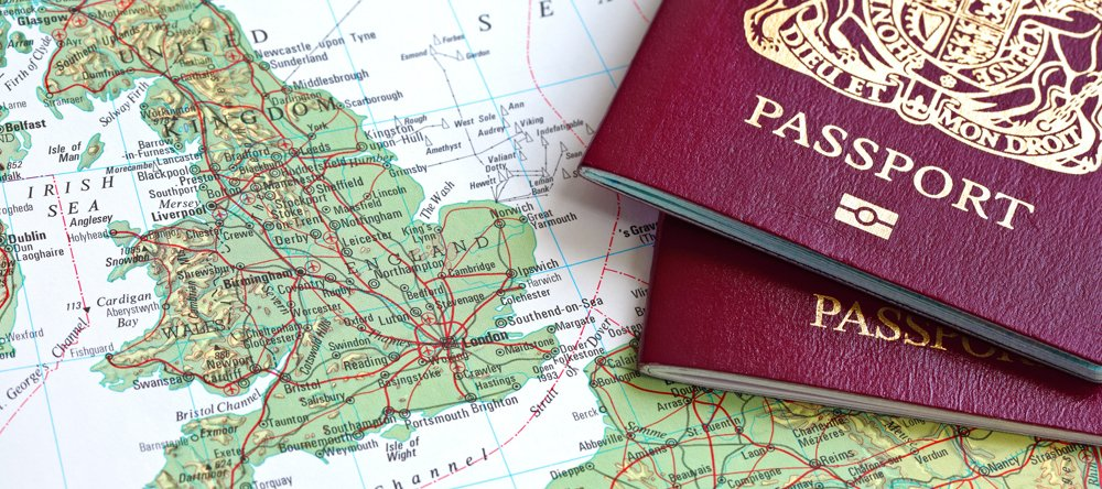 map and 2 passports