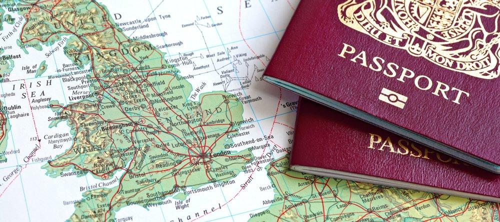 map and 2 passports