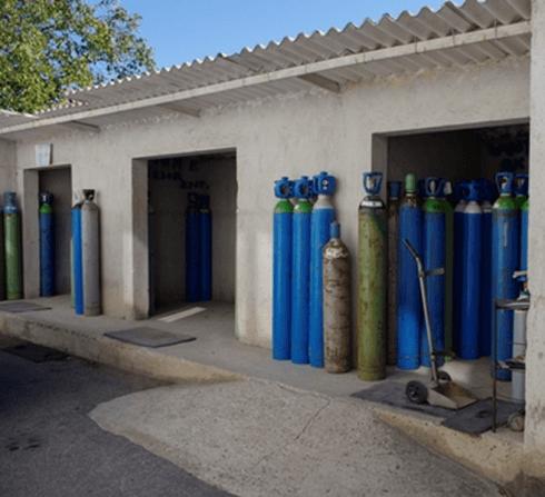 Magazzino bombole gas