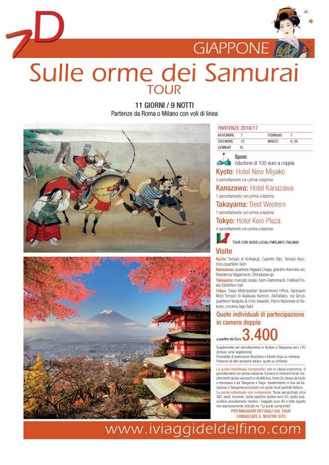 locandina sulle orme dei samurai