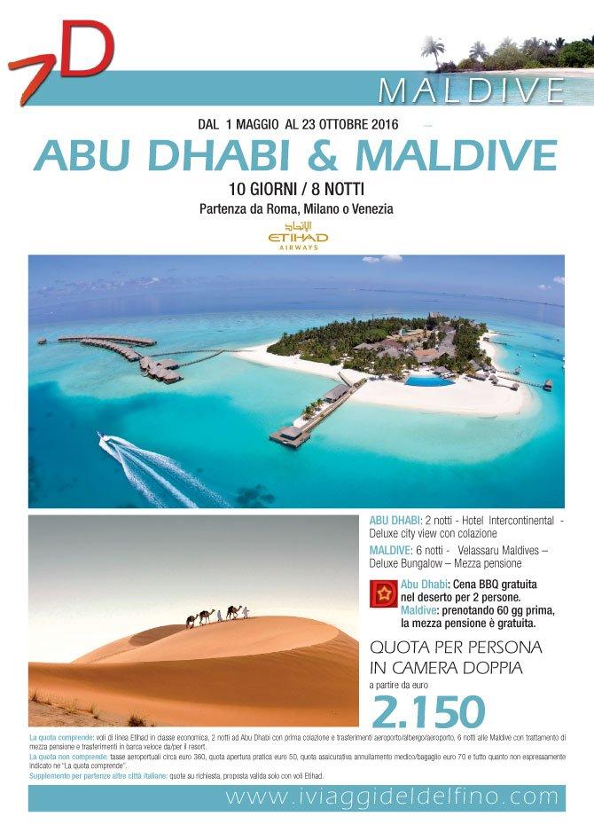Locandina abu dhabi e maldive