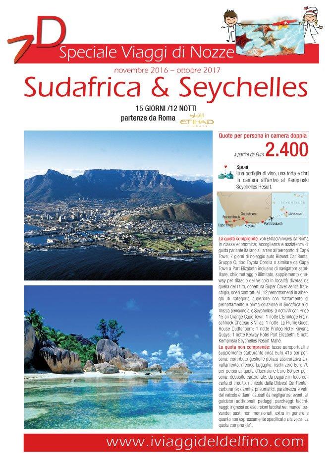 Locandina sudafrica e seychelles