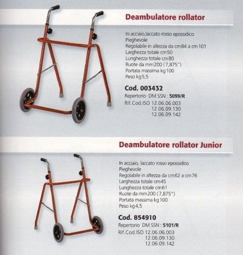 Deambulatore rollator Mediland