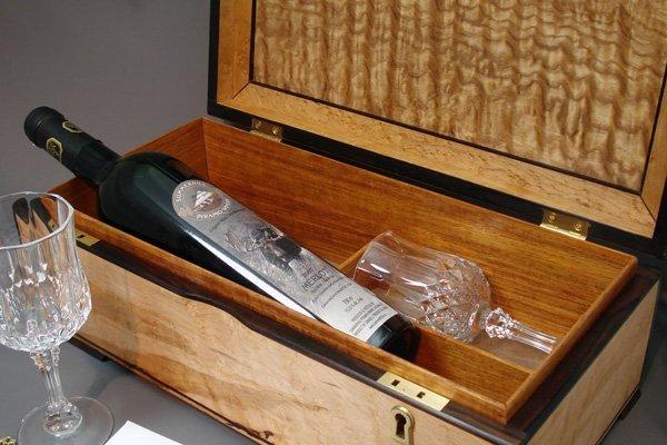 Maple & Ebony Wine Ceremony Box