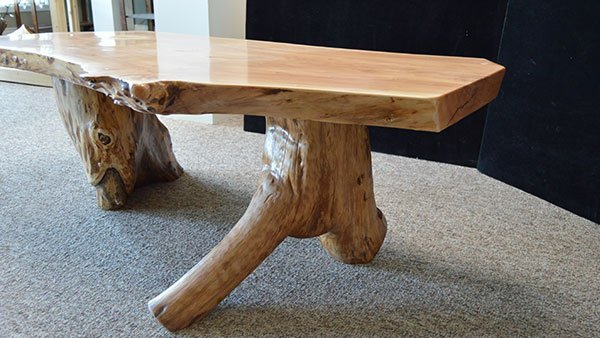 Side view of table legs