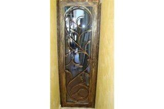Porta in ferro battuto e vetro