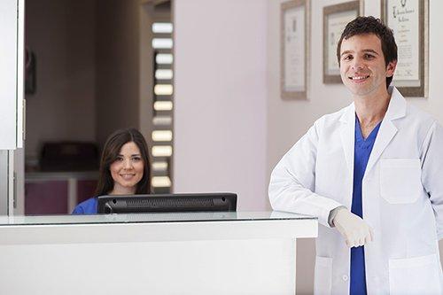 Bridge dental doctor reception