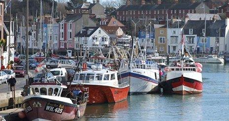 beautiful seaside town