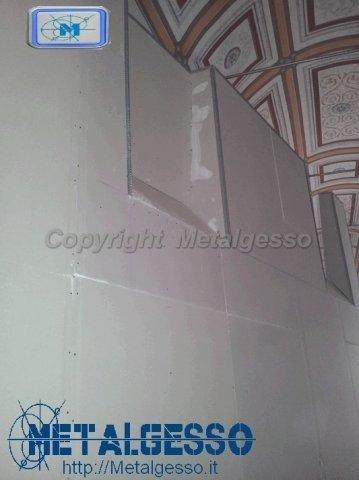 parete cartongesso museo