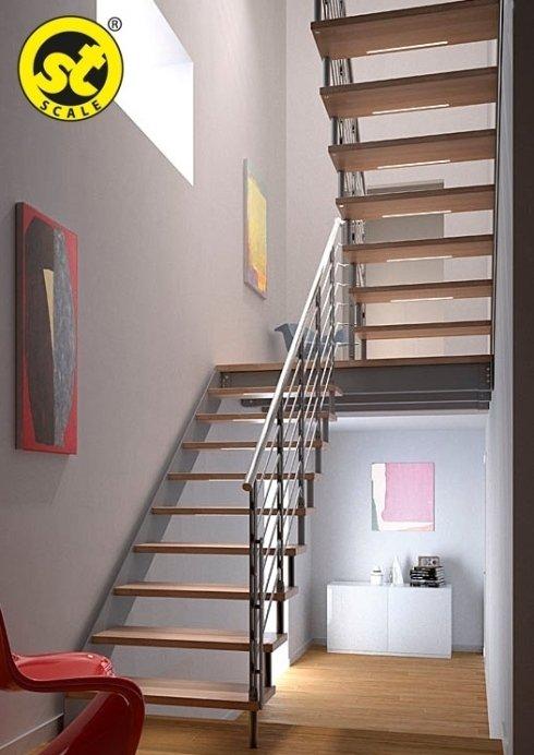 scala legno e acciaio