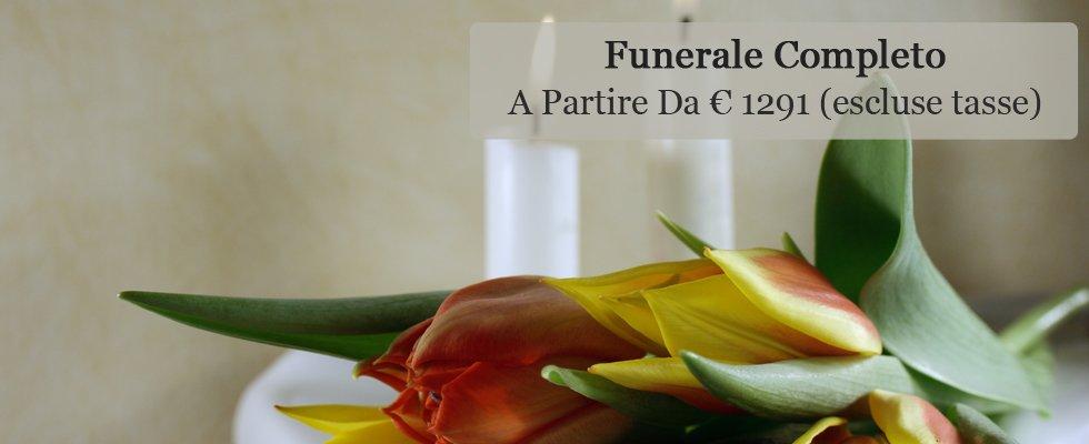 Funerale completo a partire da € 1291