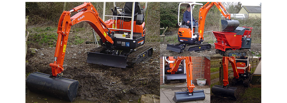 Digger - Worcester, Gloucestershire - White Plant Hire - Dumper 4