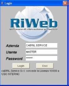 riweb caratteristiche hw-sw
