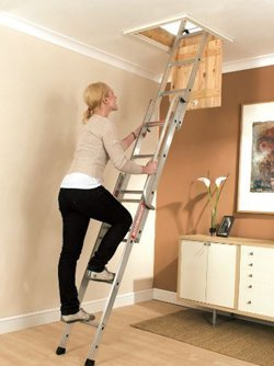 Three stage loft ladder