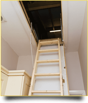 Newly installed loft ladder