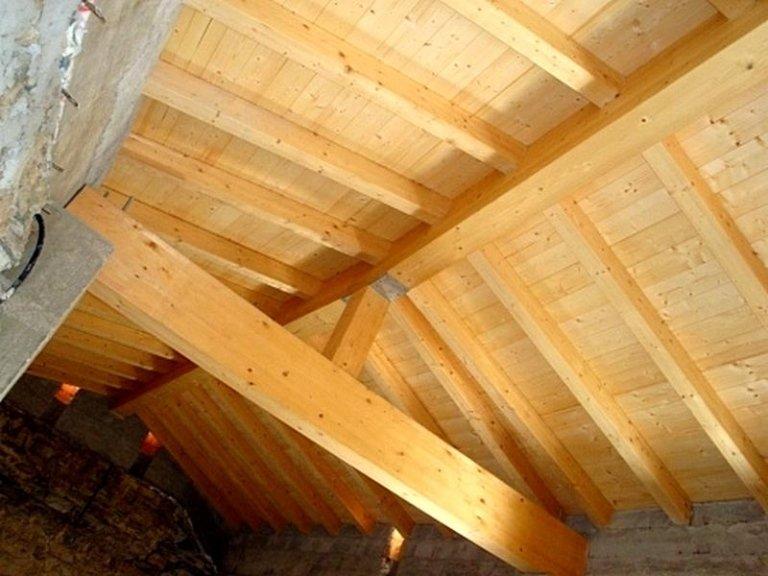 Tetti in legno bergamo rota legnami for Costo delle travi a vista