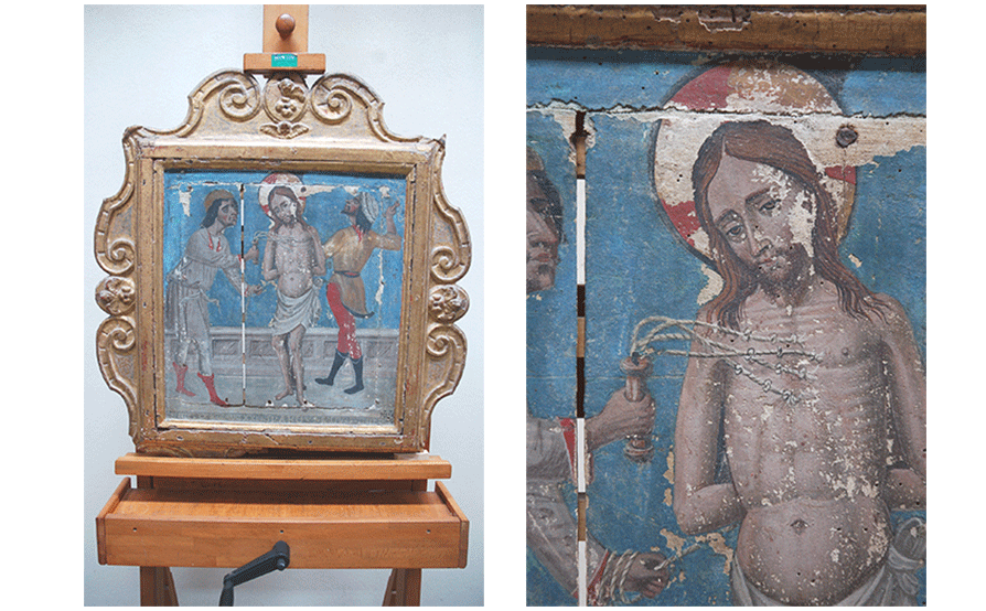 Flagellazione di Cristo - Oratorio di San Dalmazio - Lavagnola - Savona - Prima del restauro