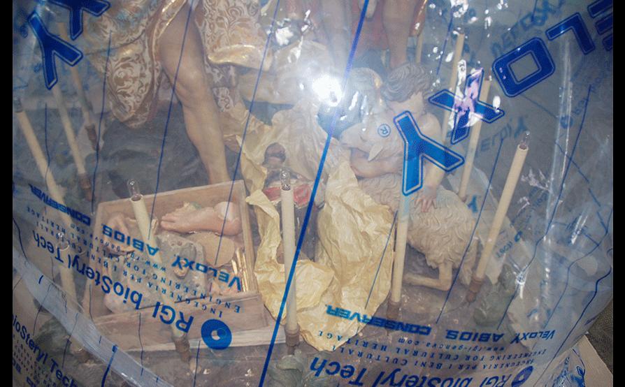 Battesimo di Cristo - Sassello - Durante la disinfestazione in anossia
